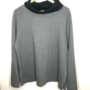 Isaac Mizrahi Gray cowl neck sweater size XL